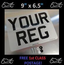 "9"" x 6.5""  FRONT CAR NUMBER PLATE 100% MOT & ROAD LEGAL"