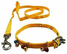 Indian Cat Collar Belt & Leash with Bells , Extra Small , Cat strap, Cat Leash