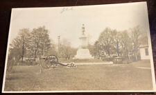 Civil War Monument ? Cannons And Cannonballs Real Photo Vintage Postcard RPPC
