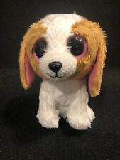 """Ty Beanie Boos Cookie the Dog 5"""" Plush Solid Eyes Pink Ears Retired Stuffed Toy"""