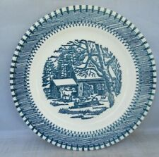 """Blue Plate Cabin in Woods 6"""" Plate"""