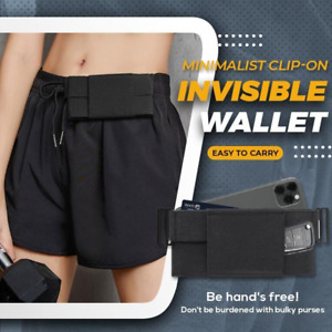 Minimalist Clip-On Invisible Wallet Elastic Invisible Belt Waist Bag US