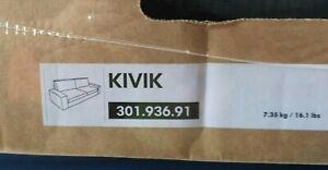 Original SLIPCOVER for KIVIK Sofabed, Tranas Black, NEW