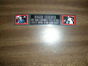 ROGER FEDERER (TENNIS) ENGRAVED NAMEPLATE FOR PHOTO/POSTER/TRUNKS