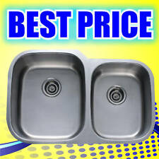 "32 inch Double Bowl Undermount Stainless Steel Kitchen Sink 32""20""x9"" - SIS-201"