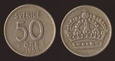 SVEZIA SWEDEN 50 ORE 1953 ARGENTO SILVER