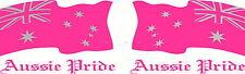 Pink Aussie Pride Australia Flag Car, Ute, Mirrored Sticker Decal Set 300x200mm