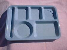 VINTAGE TEXAS WARE Speckled MELAMINE, MELMAC DIVIDED LUNCH TRAY- BLUE-- Pre 1963