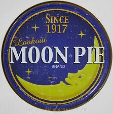 Moon Pie ROUND TIN SIGN metal wall art decor retro vtg funny food bar diner 1802