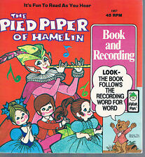 Pied Piper Hamelin Read & Hear Book & 45 RPM Peter Pan