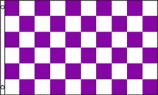 3'x5' CHECKERED FLAG PURPLE & WHITE OUTDOOR INDOOR BANNER PENNANT SPORTS NEW 3X5