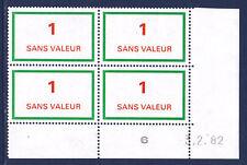 FRANCE TIMBRE FICTIF F212 ** coin daté 3.2.82, TB