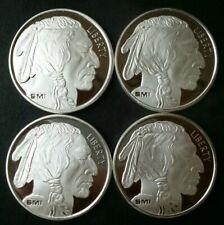 Lot of Four Sunshine Minting 1oz Silver Buffalo Rounds