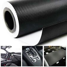 """Premium 12"""" x 60"""" 3D Car Carbon Fiber Vinyl Wrap Sticker Roll Black Bubble Free"""