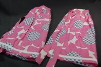 Vintage Ladies Half Cotton Apron Pink 2PC Matching
