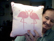 PINK STORK WEDDING CUSHION PERFECT WEDDING GIFT!  FREE CHRISTMAS UK POST