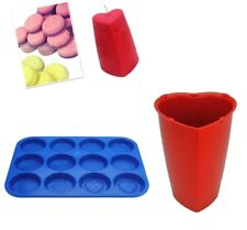 Set of 2, Valentine Heart Candle Mould & Wax Melt Tart Tray, Swirl, Heart. S7750