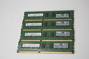 8GB Set 4 x 2GB DDR3 1333Mhz PC3-10600e Memory RAM DIMM Samsung Server ECC