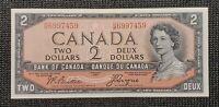 Canada 1954 Beattie Coyne BC-30b $2.00 Banknote HB 6997459 Devil's Face UNC