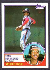 1983 TOPPS #698  Tony Bernazard  CHICAGO WHITE SOX  SIGNED AUTOGRAPH AUTO COA