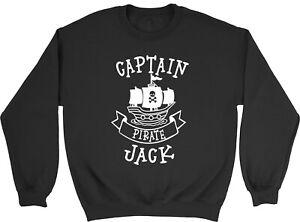 Personalised Captain Pirate With Skull & Bone Ship Children Jumper Sweatshirt