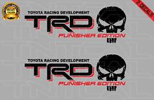 Trd Punisher Edition Decal Set Toyota Tacoma Tundra Vinyl Stickers Blackred