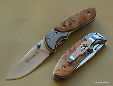 BROWNING WHITETAIL LINERLOCK FOLDING KNIFE WITH POCKET CLIP - 5.75 INCH OVERALL