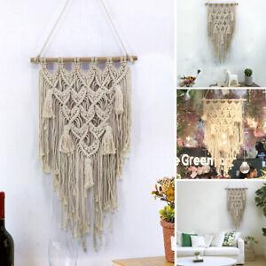 Hand Woven Macrame Wall Hanging Tapestry Home Garden Backdrop Fashion Art Decor