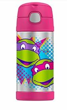 Thermos Funtainer 12 Ounce Bottle,Teenage Mutant Ninja Turtle,  Pink