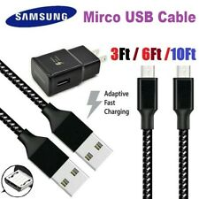 3/6/10Ft Micro USB 3.0 Fast Charger Data Sync Cable Cord Samsung LG HTC Android