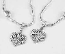 Gift chain Lil Big Sis Present Sisters Lil Sis Big Sis Necklace Set Sisters