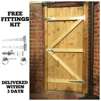 MADE TO MEASURE WOODEN GARDEN GATE / GATES  FEATHEREDGE TREATED 1.8M HIGH