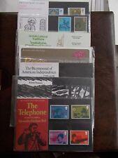 1976 Commemorative Presentation Packs Complete (7 Packs P.O. Nos 78-87)