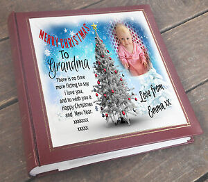 "Christmas present Grandma Nanna Large personalised photo album 6x4"" x 200 photos"