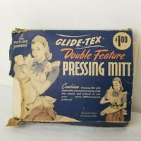 Vintage 40s Glide Tex Pressing Mitt Laundry Ironing Original Packaging USA