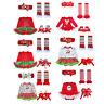 Baby Girls Christmas Dress Outfits Birthday Party Top Tutu Skirts Set Costumes