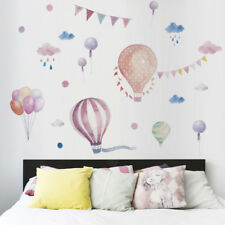 Hot Air Balloons Flag Animals wall stickers decals children bedroom DecorationJR