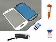 Cristal Delantero para Samsung Galaxy S3 Mini Blanco Pantalla Táctil UV Loca 5ml
