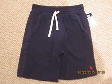 NWT Ralph Lauren Navy Blue Knit Elastic Waist Pull On Shorts small 8