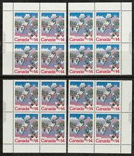 CANADA #780 14¢ Quebec Winter Carnival Match Set of Inscription Blocks MNH