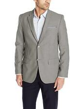 Perry Ellis Men's Solid Textured Two Button Suit Jacket (38R, Brushed Nikel)