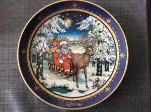 Villeroy/boch/Heinrich Porzellan Weihnachtsteller 1993  20cm