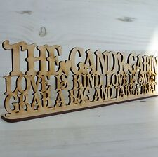 Sayings Plaque Candy Cabin Sweet Trolley Wedding Word Sign Wood Art Mdf Wooden