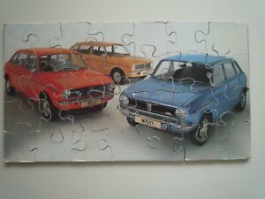 Vintage Hand Cut Jigsaw Puzzle Austin Maxi Cars 1970s : 28 Pieces