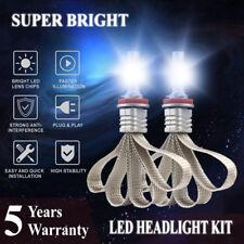 H11 H9 H8 LED Headlight Bulbs Kit Lamps 6000K White Fanless Fog light High Power
