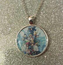 Collar De Plata KEYRING LLAVERO Kingdom Hearts Sora Riku Roxas Kairi Mickey