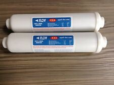 2 Inline Fridge Water Filter External  compatible with Hotpoint etc
