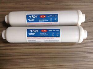 2 Inline Fridge Water Filter External  compatible with LG Hotpoint Beko  etc