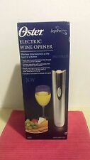 New Oster Electric Wine Corkscrew Cordless Electric Bottle Opener Silver