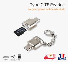 USB 3.1 en d'aluminium OTG Type-C Micro SD/TF lecteur de carte adaptateur